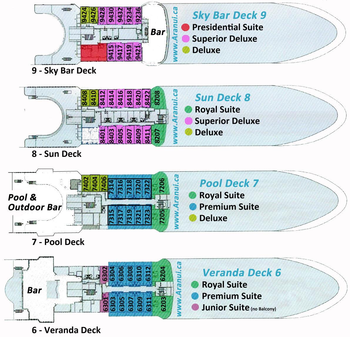Aranui Deck Plan Far And Away Adventures