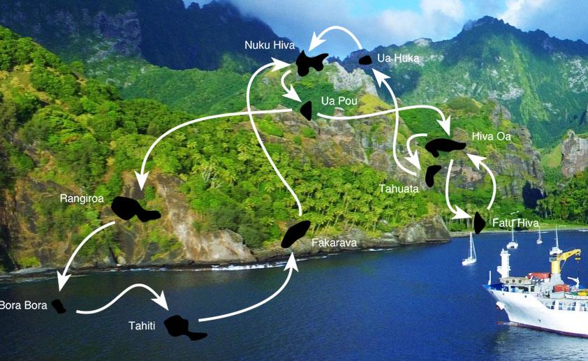 Aranui Itinerary with Fakarava and Bora Bora