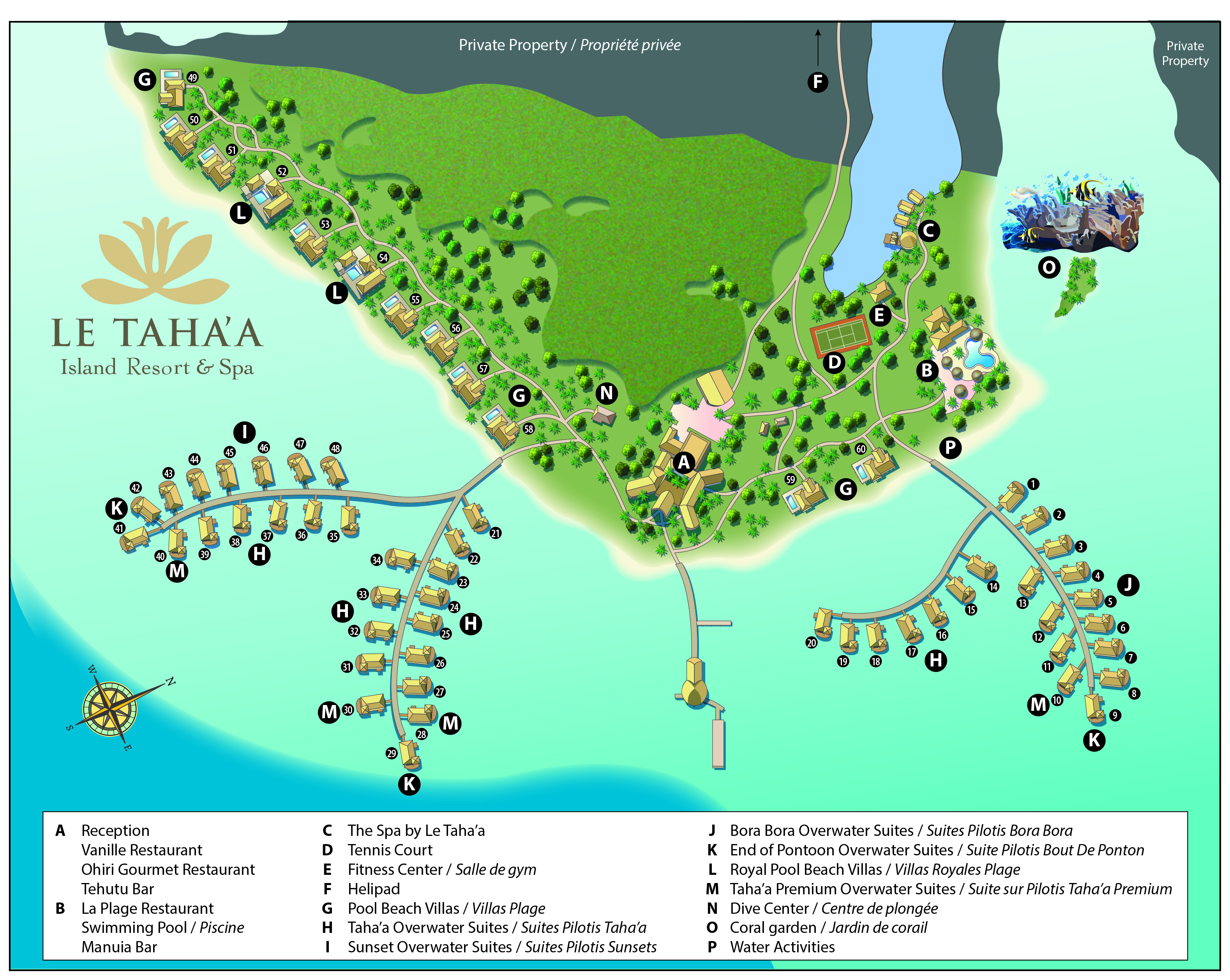 Five Star Hotel Le Taha A Island Resort Spa